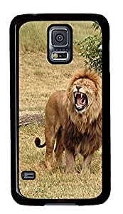 online Samsung Galaxy S5 cases Hunting Lions PC Black Custom Samsung Galaxy S5 Case Cover