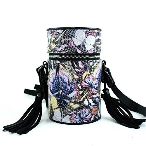 Gepherrini Designer HandMade Italian Genuine Leather Signature Tote Crossbody Shoulder Handbag for Women (Summer Flowers) by Gepherrini
