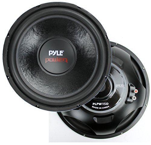 New Pyle PLPW15D 15' 2000 Watt 4-Ohm DVC Power Car Audio Subwoofer Sub Woofer
