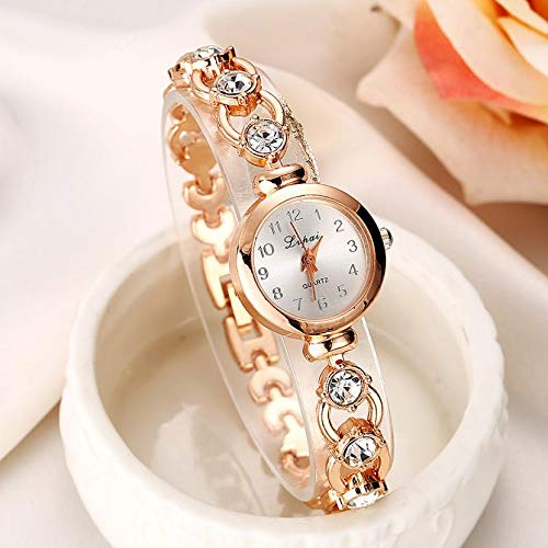 Amazon.com: Women Watches Luxury Rose Gold Top Brand Geneva Reloj Sport Mujer Watch Women Bracelet for Watch Ladies A: Jewelry
