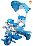 Baybee Bonniecat Trolly Cycle With Canopy (Blue)