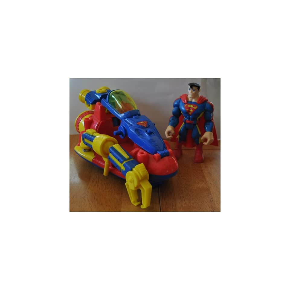Superman with Krypton Space Ship   Super Hero Justice League DC Comics   Rescue Hero Style Action Figure   Mattel