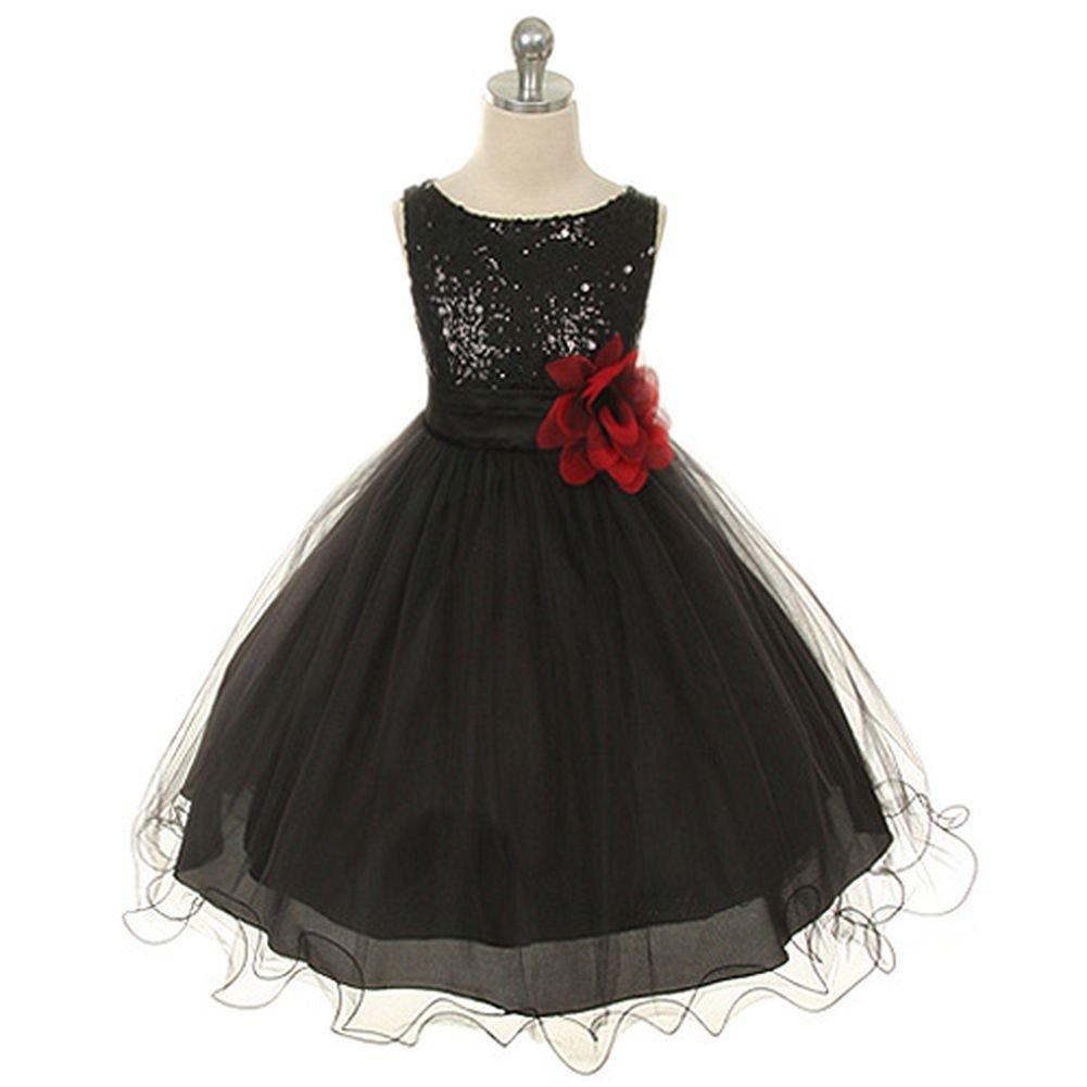 8b9cb9a301c Little Girl Black Flower Girl Dress – DACC
