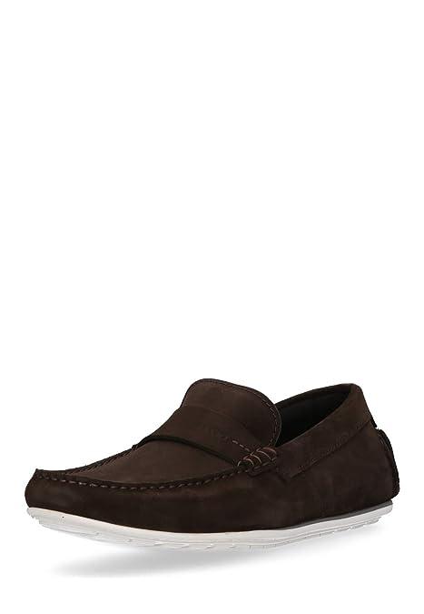 Hugo Boss - Hugo Mens Suede Mocasín c-traveso Chocolate Marrón para Hombre, Color marrón, Talla 42.5: Amazon.es: Zapatos y complementos