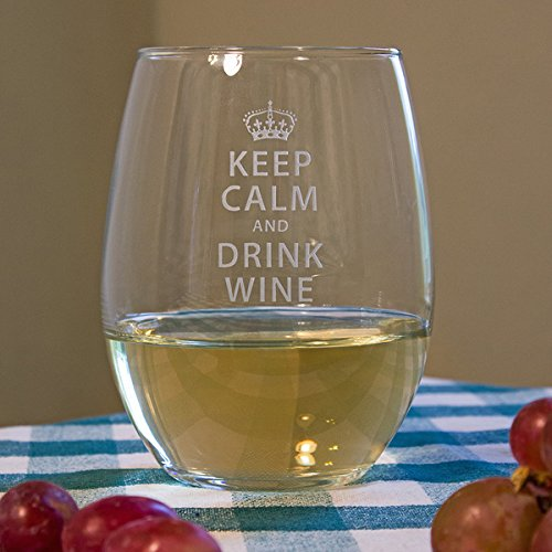 susquehanna-21-ounce-keep-calm-and-drink-wine-etched-clear-stemless-drinkware-glass-set-of-4