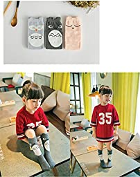 Gellwhu Baby Girls Boys Knee High Stockings Cartoon Animal Socks 6 Packs Set (1-3 Years, 6-Pack Set A)
