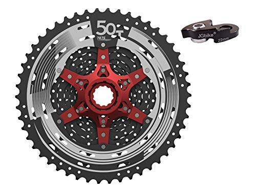 JGbike Sunrace 11 Speed Cassette 11-50T CSMX8 Black Wide Ratio MTB Cassette for Mountain Bike Including Extender for Shimano M7000 M8000 M9000