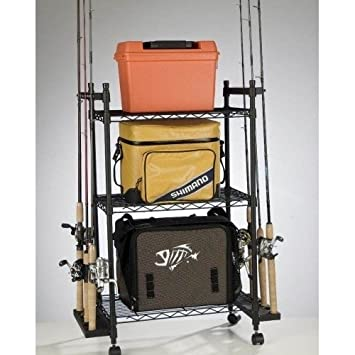 Keep Fishing Poles Rods Reels Tackle And More Neatly Organized This Storage