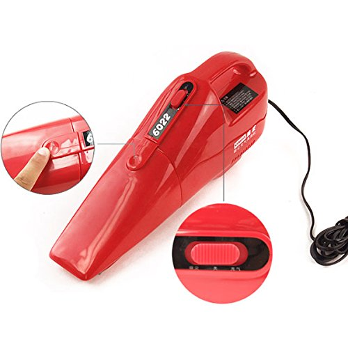 HITSAN Coido 6022 12V 55W Multi-function Car Vacuum Cleaner Red One Piece