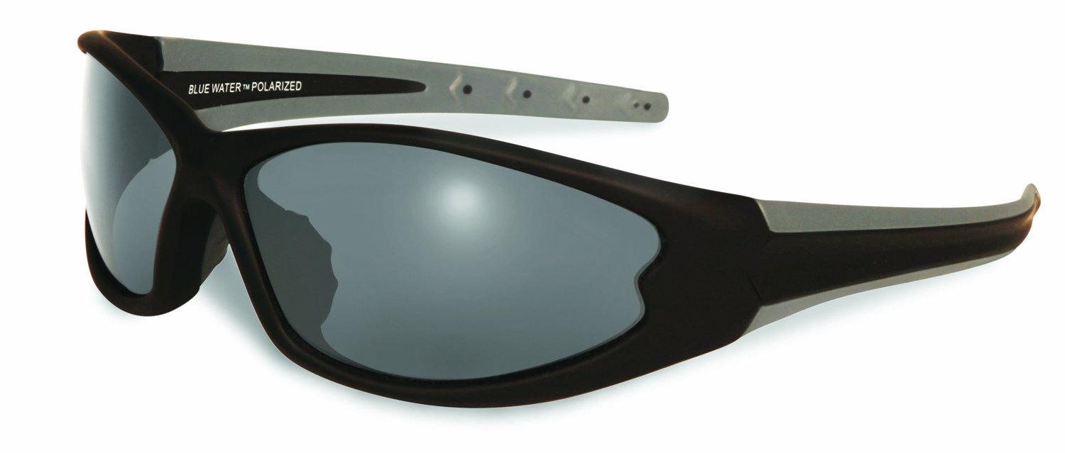 Global Vision Eyewear Daytona 4 Smoke Lenses with Hydrophobic Coating, Black/Gray, Small