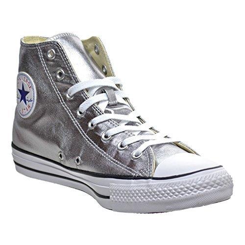 Converse Chuck Taylor All Star Hi Metallic Sneaker (Mens 6.5/Womens 8.5, Gunmetal) 153177