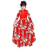 ARK DRESSES , Girls Fancy Floral Dress