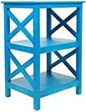 Pearington Multi Purpose Fully Assembled X Design Side/End Table With Storage, Turquoise