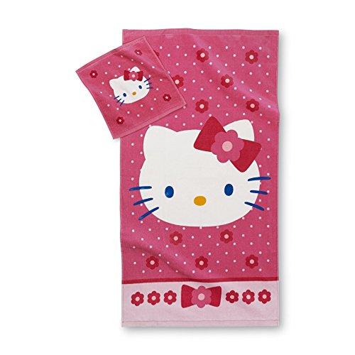 Hello Kitty Towel with Wash Cloth 2pc Bath Set