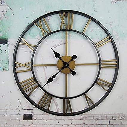 DGF Reloj de pared romano vintage, reloj Reloj de pared antiguo con nostalgia Relojes de