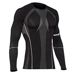 HEAT-OUT Base Layer Long Sleeve Crew Neck Top - 2XL, Black