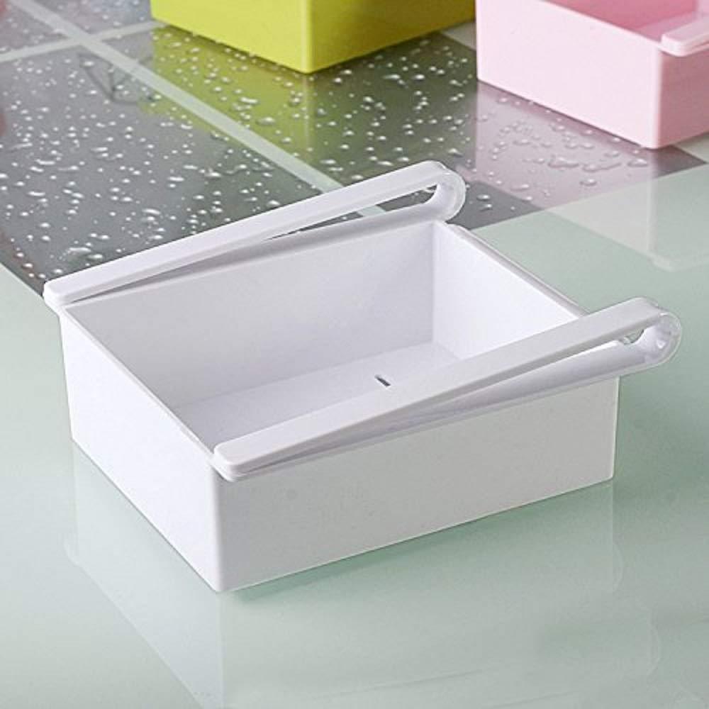 Creative Refrigerator Storage Box Fresh Separation Layer Storage Rack Drawer (White)