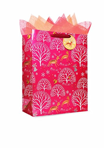 El envoltorio. Bolsa de regalo de papel metálico con asa, diseño para fiesta, cumpleaños, boda, Navidad, día de la madre...