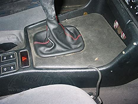 RedlineGoods Shift Boot Compatible with BMW 5-Series E39 1996-03 Black Leather-Black Thread