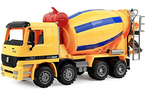 Click N Play Friction Powered Jumbo Cement Truck Construction Toy Vehicle for Kids
