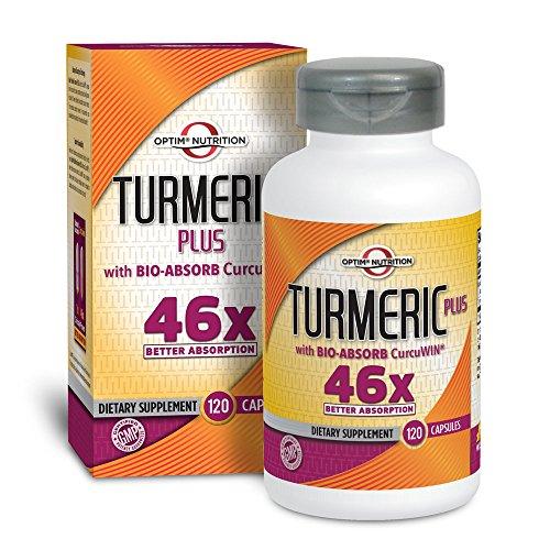 Optim Nutrition Turmeric Plus with Bio-Absorb CurcuWin 46X Absorption (120 caps)