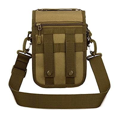 UNISTRENGH Multi-Purpose Tactical Molle Utility Pouches Compact Waist Pack Military Water-Resistance Casual Satchel Bag Fanny Pack Hunting Accessory
