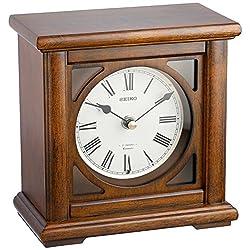 SEIKO Chiming Maple Desk Clock