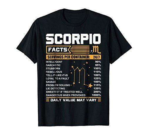 Scorpio Birthday Gifts - Scorpio Facts Funny T-Shirt