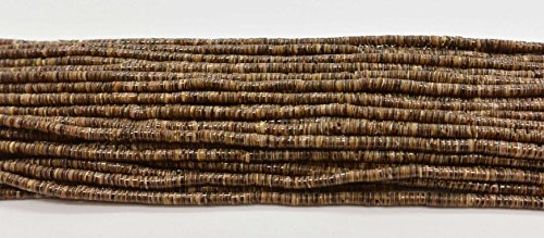 Baby Olive Heishi Shell 2-3mm 24 Inches Long