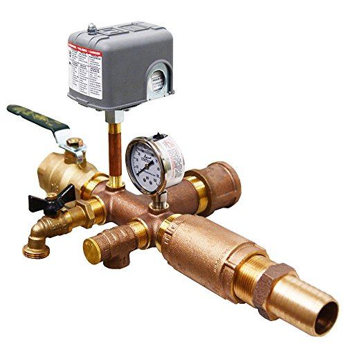 No-lead Brass Installation Tee Package for Wellmate Wm-14wb, 20wb, 25wb, 35wb and Flexcon H2pl38sq, H2pl50, H2pl65, H2pl82, H2pl90 or H2pl120 Well Tanks - 1 1/4