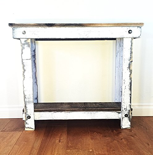 Rustic Handcrafted Reclaimed Console Table - Self Assembly - Natural and (Farmhouse Console)