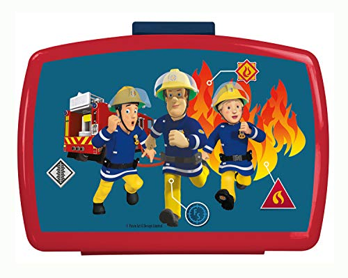 Fireman Lunch - OSP p:os 26361099 Premium Lunch Box with Insert Fireman Sam Approx. 16 x 12 x 6.5 cm
