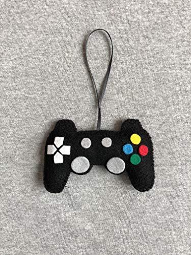 Video Game Controller Christmas Ornament in Black Felt