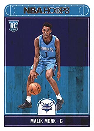 2017-18 NBA Hoops  261 Malik Monk Charlotte Hornets RC Rookie Basketball  Card made 74d0584ee