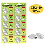 CR2450 Battery - 3v Lithium Coin Cell Batteries - High Capacity 700mAh Button Cell Battery CR2450 for Flameless Candle, Remote, Window Sensor