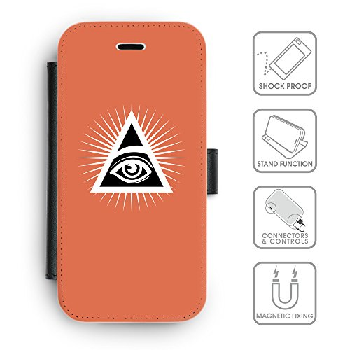 GoGoMobile Coque de Protection TPU Silicone Case pour // Q09100614 Œil Providence 20 Rougir // Apple iPhone 4 4S 4G