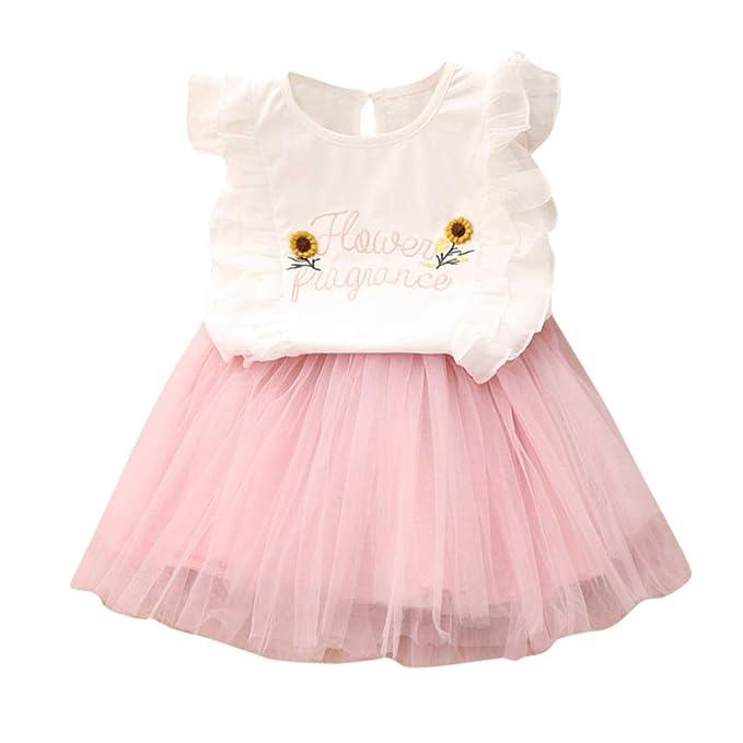 Kids Toddler Baby Girls Tutu Skirt Outfit Set Strap Off-Shoulder Shirt+Fruit Print Tutu Skirt Princess Party Dress Clothes