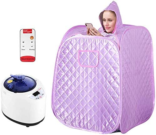 ETE ETMATE Portable Sauna Spa Steamer, Personal Therapeutic Sauna for Weight Loss, Single Sauna with Foldable and Steamable Feet, Storage Bag, Remote Control, Fumigation Machine