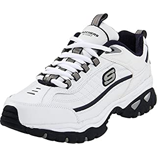 Skechers Afterburn Men's Shoes WHITE/NAVY 10W Men