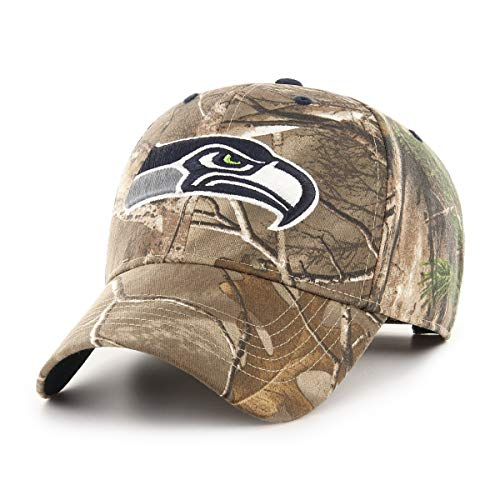 (OTS Adult Men's NFL Star Adjustable Hat, Hickory Real Tree, One Size)