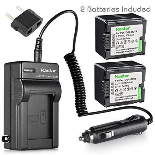 - Kastar Battery X2 & Travel Charger for Panasonic CGA-DU14 DU06 DU07 DU21 VW-VBD070 VBD140 VBD210 NV-GS508 MX500 PV-GS180 GS400 GS500 SDR-H48 H250 H280 VDR-D160 D308 D310 D400 M53 M55 M70 M75 M95 M250