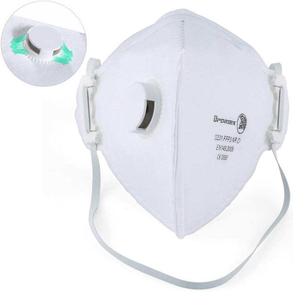 FFP3 Mascarilla Virus,N99 Máscara de Seguridad Antipolución con Filtro de Respiración de Válvula Partículas de Aire Aisladas y Prevenir Virus de Neumonía Infe