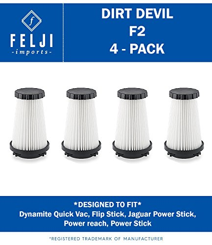 4 Dirt Devil Hepa Filters F2 F-2 Vacuum Dynamite 3SFA11500X