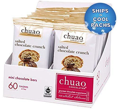 Chocolate Bars - Chuao Chocolatier Chocolate Bars 24pk (.39 oz mini bars) - Best-Selling Chocolate Pack - Gourmet Artisan Dark Chocolate - Free of Artificial Flavors (Salted Chocolate Crunch) (Artisan Chocolate)