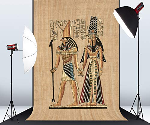 5ft x 7ft Ancient Egyptian Parchment Theme Microfiber Photography Background for Photo Booth Studio Wedding Party Shot Backdrop Props ()