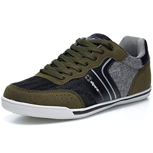 alpine swiss Liam Mens Fashion Sneakers Suede Trim Low Top Lace Up Tennis Shoes OLV 9 M US