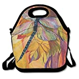 Vineyard Fantasy Dragonfly Extra Large Insulated Lunch Box Food Handbag