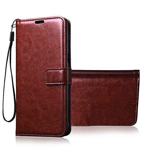 MobihopperBrown Leather Magnetic Vintage Flip Wallet Case Cover for Samsung Galaxy S6 Edge Plus   Brown