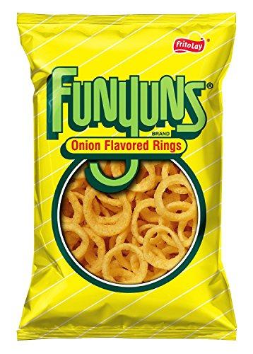 Frito Lay, Funyuns, Onion Flavored Rings, 6.5oz Bag (Pack of 4) (Funyuns Onion Flavored Rings)