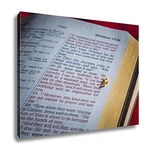 Ashley Canvas, Mustard Seed And Open Bible, Home Decoration Office, Ready to Hang, 20x25, AG6605392 by Ashley Canvas